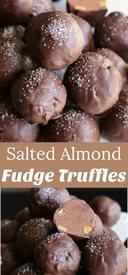 Salted Almond Fudge Truffles!