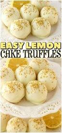 Lemon Cake Truffles!