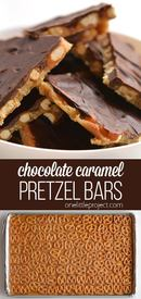 Chocolate Caramel Pretzel Bars!