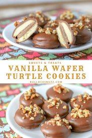 Vanilla Wafer Turtle Cookies!