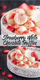 Strawberry White Chocolate Truffles!