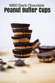 Dark Chocolate Peanut Butter Cups!