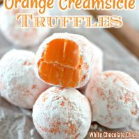 Orange Creamsicle Truffles!