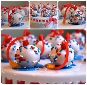 Cake Bombs For July 4th!