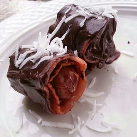 Bacon Wrapped Chocolate Covered Dates!