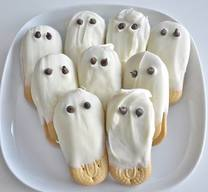 White Chocolate Ghost Cookies!!