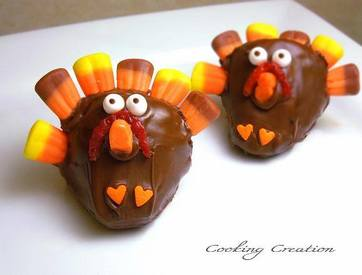 Chocolate Strawberry Turkey Treats!