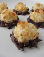Chocolate Dipped Coconut Macaroons!