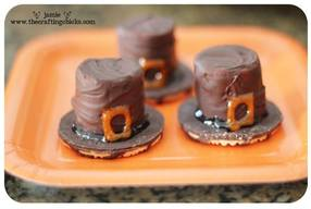 Chocolate Covered Pilgrim Hats!