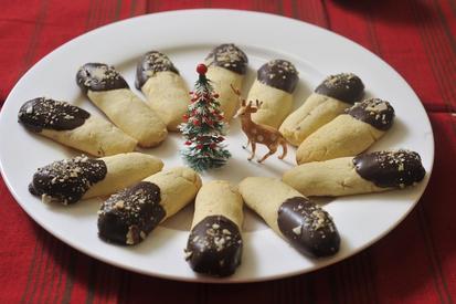 Kransekake Sticks Dipped In Chocolate!!