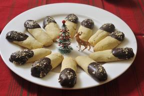 Kransekake Sticks Dipped In Chocolate!!