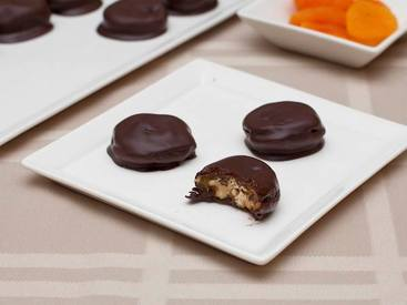 Chocolate Dipped Apricot Candies!