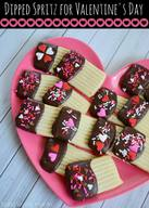 Dipped Spritz Cookies!
