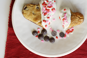 Chocolate Chip Valentine Cookies!