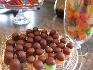 Chocolate Dipped Gumdrops!