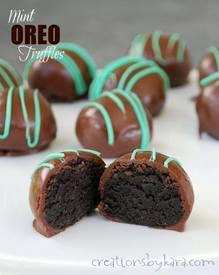 Mint Oreo Truffles!