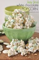 Key Lime White Choc Popcorn!