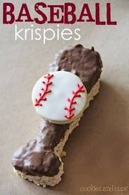 Baseball Chocolate Krispies!