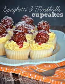 Spaghetti & Meatballs Cupcakes!