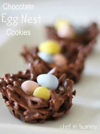 Chocolate Egg Nest Cookies!