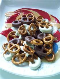 Chocolate Dipped Pretzels!