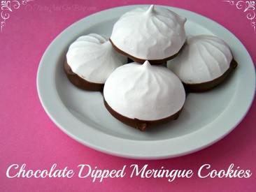 Chocolate Dipped Meringue Cookies!