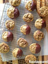 Chocolate Dipped Soft Ginger Cookies!