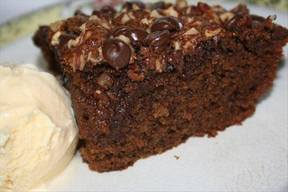 Chocolate Chip Applesauce Cake!