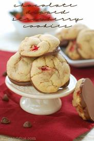 Chocolate Dipped Strawberry Cookies!