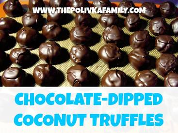 Chocolate Dipped Coconut Treats!