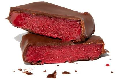 Chocolate Dipped Raspberry Sorbet Bars!