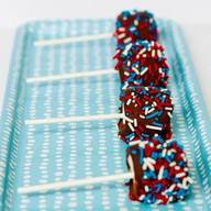 4th Of July Chocolate Pb Marshmallow Pops!