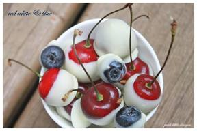 Red White & Blue Chocolate Fruit!