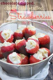 Chocolate Dipped Cheesecake Strawberries!