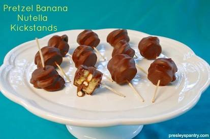 Pretzel Banana Nutella Kickstands!