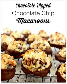 Chocolate Dipped Macaroons!