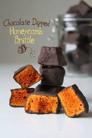 Chocolate Dipped Honeycomb Brittle!