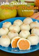 White Chocolate Pumpkin Truffles!