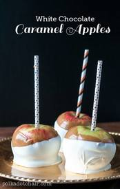 White Chocolate Caramel Apples!