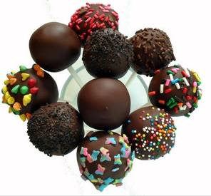 Dark Chocolate Cake Pops!