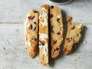 Dried Cranberry & White Chocolate Biscotti!