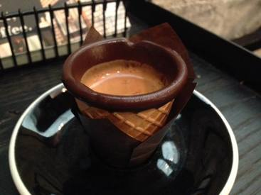 Espresso Shots In A Chocolate Dipped Cone!