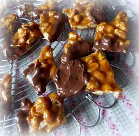 Chocolate Dipped Peanut Brittle!