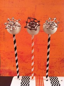 Chocolate Spider Web Cake Pops!