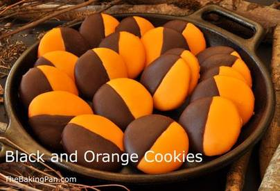 Black & Orange Cookies!