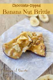 Chocolate Dipped Banana Nut Brittle!
