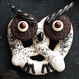 Haunted Hooting Owl Pretzels!