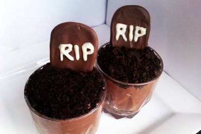 Halloween Chocolate Graveyard Mousse!