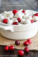 White Chocolate Covered Cranberries!