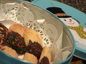 Chocolate Dipped Butter Cookies!